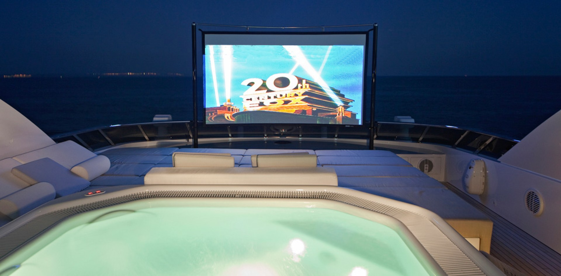 A beautiful jacuzzi cinema experience on board M/Y Jems
