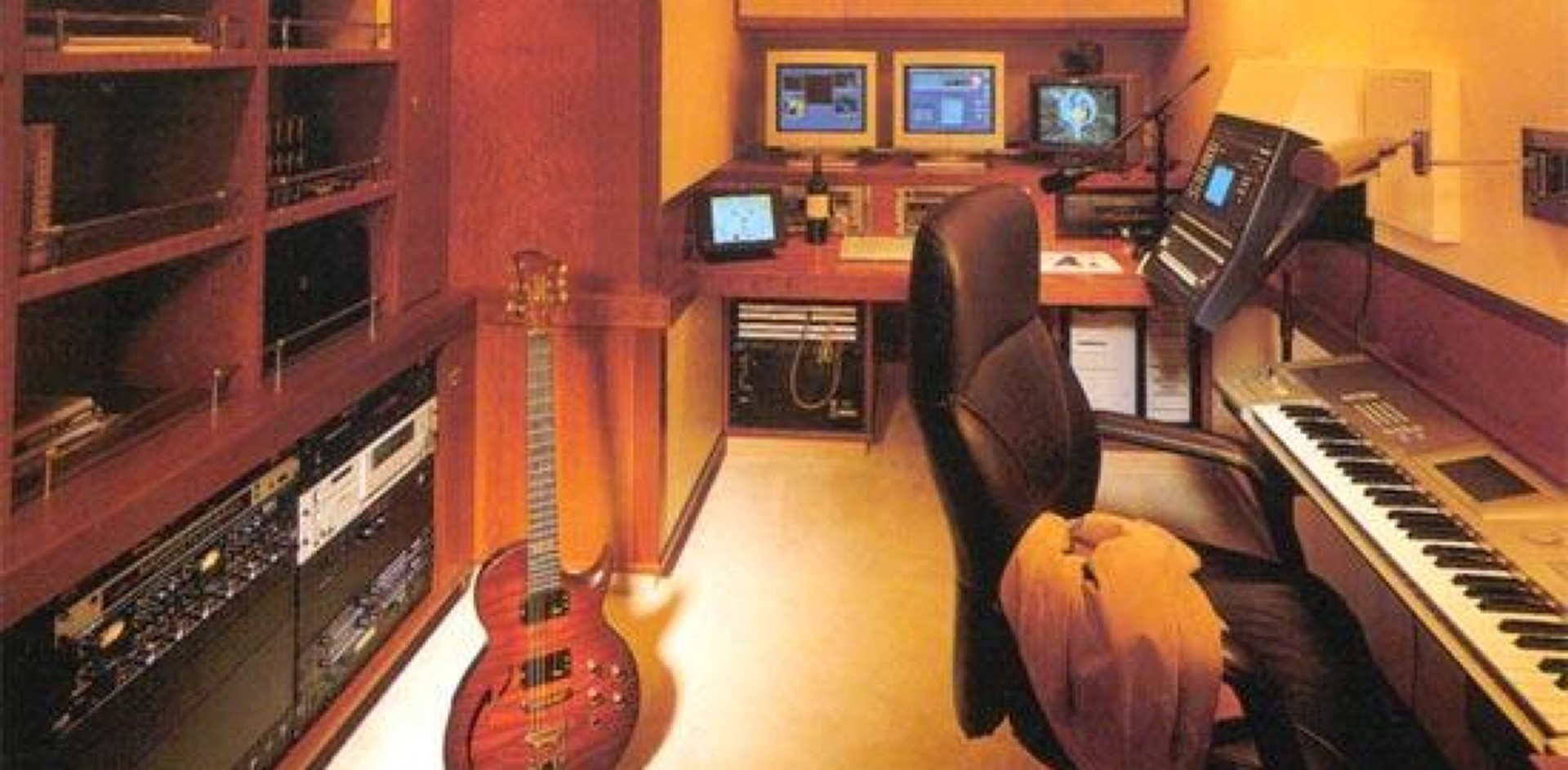 A music room on board