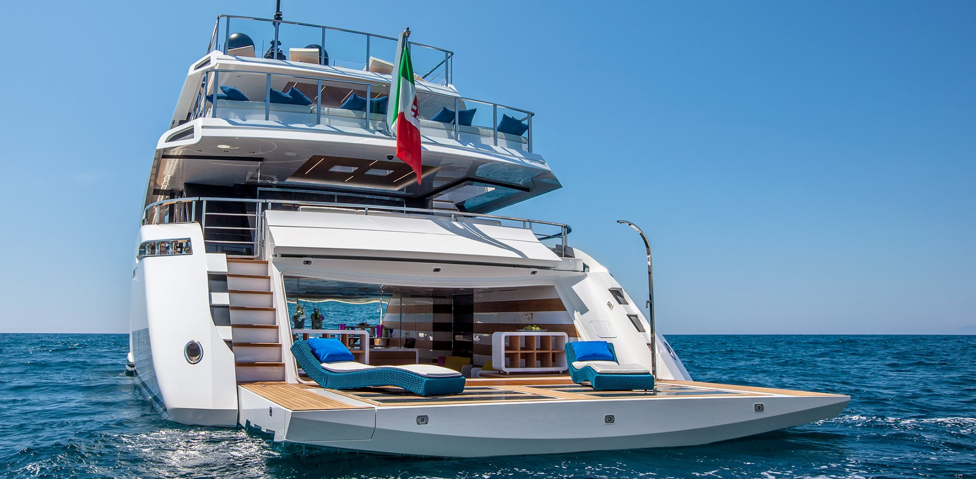 The best beach club on board a yacht
